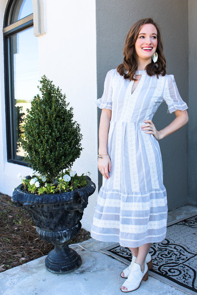 Lace midi- great for Easter!