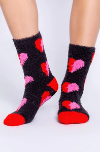 Charcoal Hearts Socks