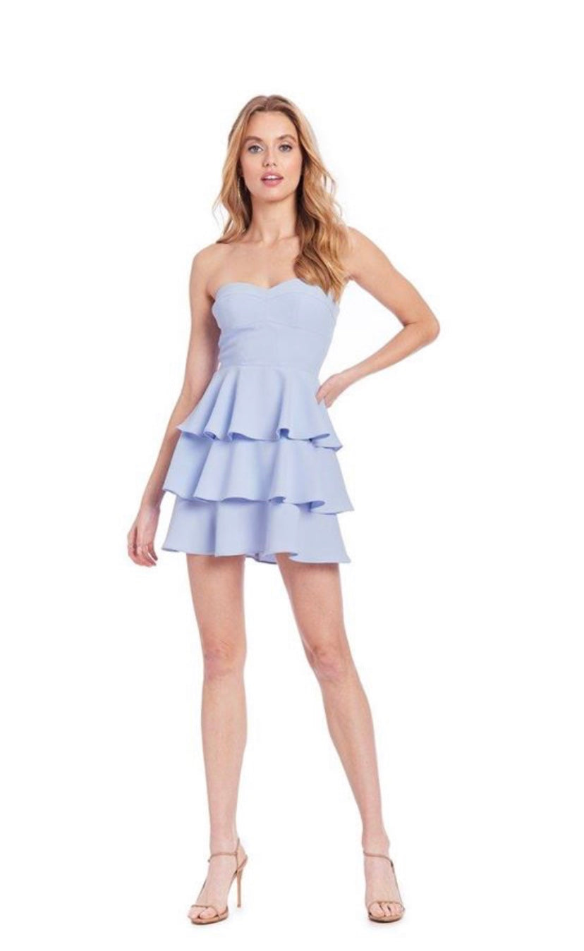 Arctic tiered ruffle dress