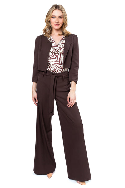 Chocolate Brown Wide Leg Pant
