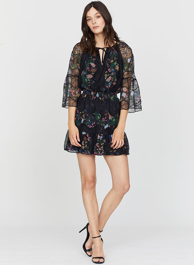 Alena floral lace dress