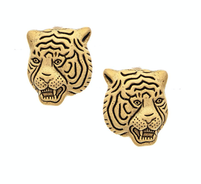 Keele tiger stud earrings