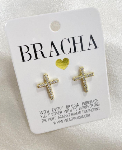 Abundant Cross earrings