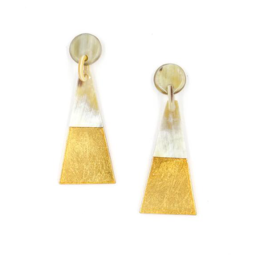 Gold dipped triangle earrings