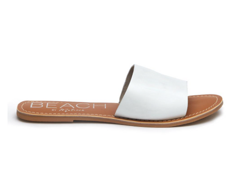 Cabana white leather sandal