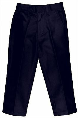 Boys School Uniform PREMIUM Flat Front Pants New Size (7-20) Khaki,Navy,Black