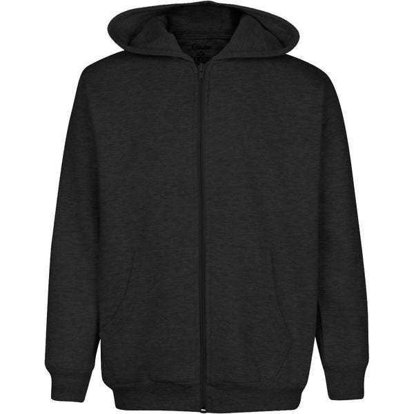Boys Heavyweight Full Zip Up Hoodie Classic Zipper Hooded Sweatshirt