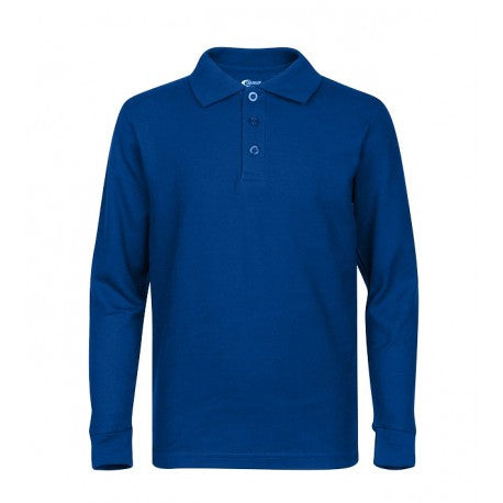 Boys Long Sleeve Polo Shirt Royal Blue