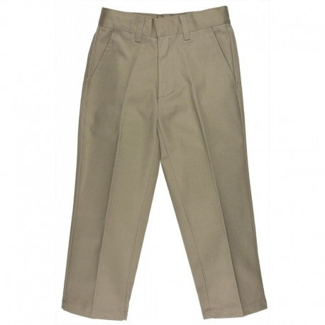 Boys Uniform Husky Flat Front Pants