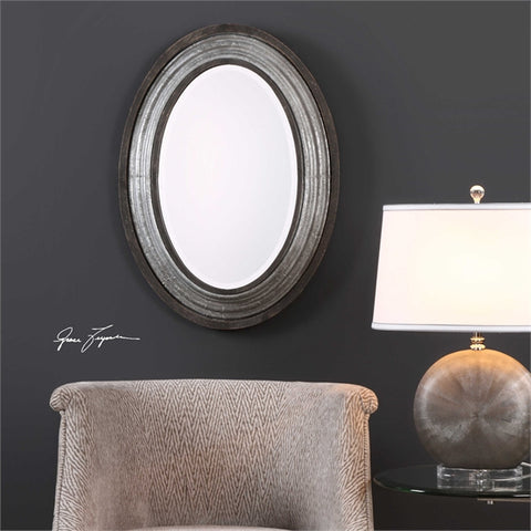 Oval Galvanized iron Galina Mirror