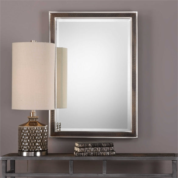 "32"" x 22"" Alexius Greek Key Mirror"