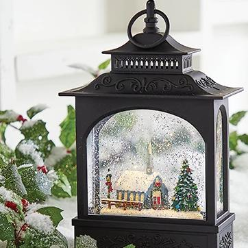 Lighted Church Water Lantern