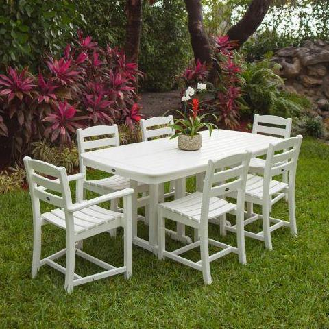 7 piece La Casa Dining Set by Polywood