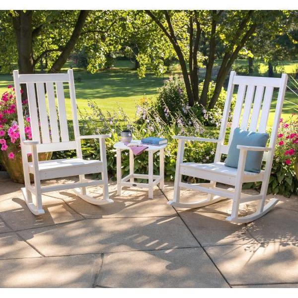 Fantastic Vineyard Porch Rocker 3 Piece Set By Polywood Caraccident5 Cool Chair Designs And Ideas Caraccident5Info
