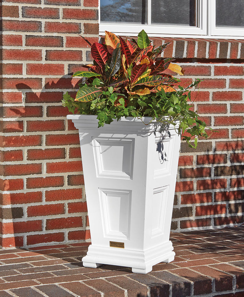 Tapered Paneled Planter Walpole Outdoors