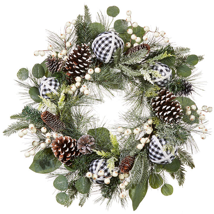 "24"" Mixed Pinecone Wreath"