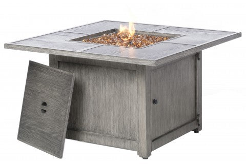"40"" Square Propane Fire Pit Chat Table"