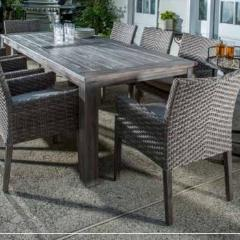 5 piece Wicker and Wood Dining Set