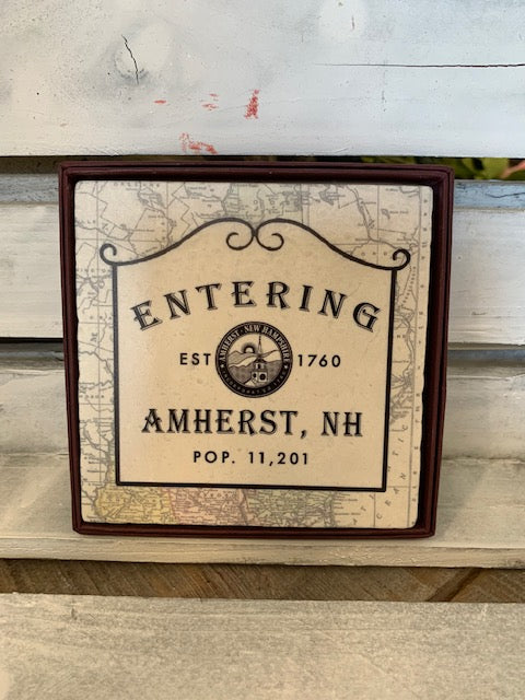 Amherst, NH Marble Coaster