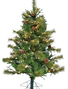 4' Bryson Pine Pre-lit Artificial Christmas Tree