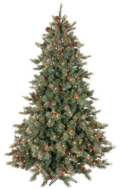 7.5' Frosted Full Pre-lit Artificial Christmas Tree