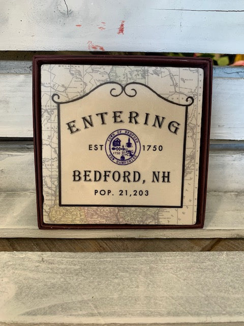 Bedford, NH Marble Coaster