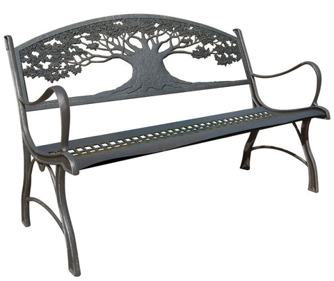 Cast Iron Bench in various Nature Inspired Themes
