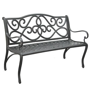 Cast Aluminum Scroll Bench