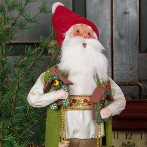 Byers' Choice Caroler - Cuckoo Clock Santa