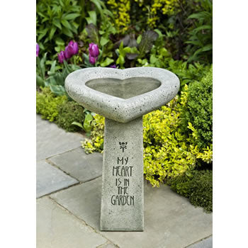 My Heart is in the Garden Birdbath