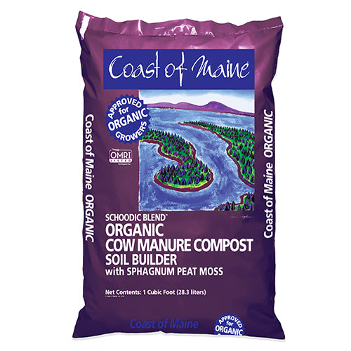 Cow Manure Compost Schoodic Blend by Coast of Maine