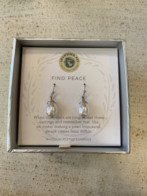 Spartina Find Peace Earrings and Necklace