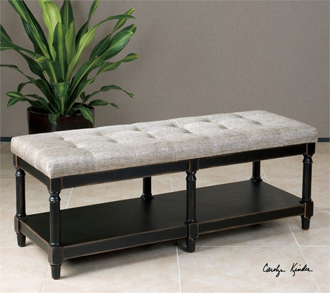 Serafino Tufted Bench
