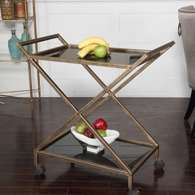 Tea / Bar Cart on Casters