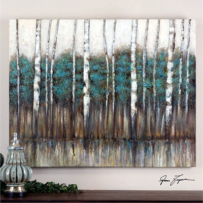 Hand Painted Canvas Artwork:  Edge of the Forrest