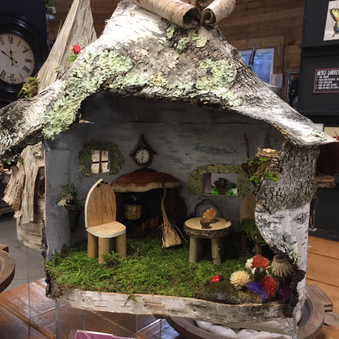 Birch Fairy House