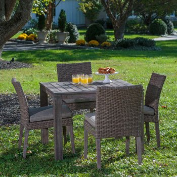 5 piece Wicker Dining Set