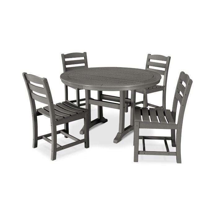 5 piece La Casa Dining Set with side Chairs by Polywood