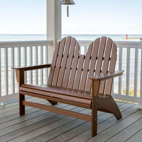Vineyard Adirondack Bench by Polywood