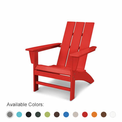 Modern Straight Back Adirondack Chair by Polywood