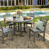 Lakeside 5-Piece Side Chair Dining Set by Polywood
