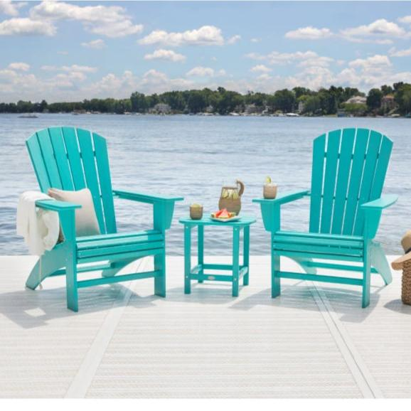 Nautical Curveback Adirondack Chair by Polywood