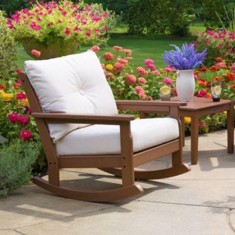 Vineyard Deep Seating Rocking Chair by Polywood : polywood rocking chair - lorbestier.org