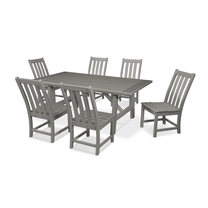 Vineyard 7-piece Rustic Farmhouse Dining Set by Polywood