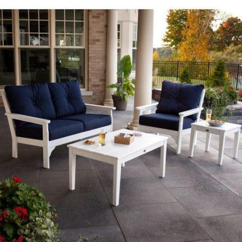 4 Piece Vineyard Deep Seating Lounge Set by Polywood