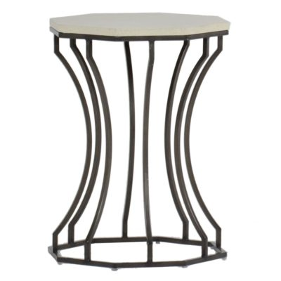 Audrey Stone Top End Table by Summer Classics
