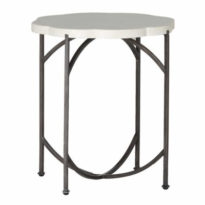 Gillian Stone Top End Table by Summer Classics