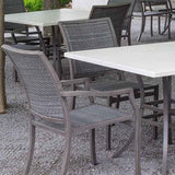 "84x40"" Superstone Dining Table by Summer Classics"