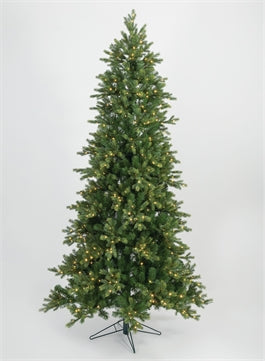 7.5' Slim Instant Connect Pre-lit Artificial Christmas Tree