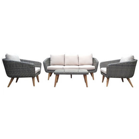 Modern Wicker 4 piece Living Set